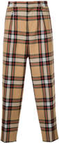 Monkey Time Plaid High Waist Trousers