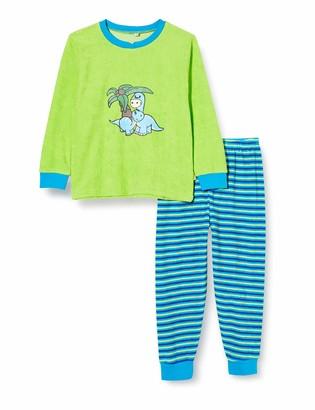 Playshoes Boy's Terry Cloth Dino Pyjama Set