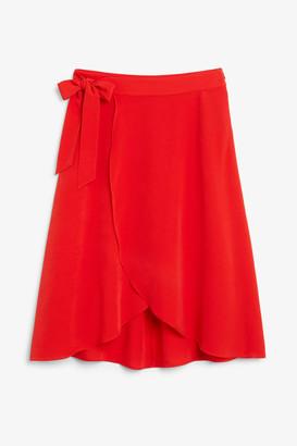 Monki Wrap front skirt