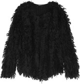 DKNY Fringed knitted jacket