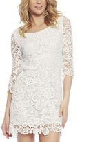 Arden B Crochet Lace White Dress