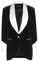 Dolce & Gabbana Silk-trimmed Velvet Blazer