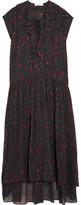 IRO Janie Printed Georgette Dress - Black