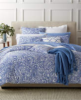 Charter Club Damask Designs Paisley Denim King Duvet Set, Created for Macy's