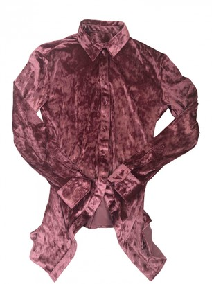 Y/Project Pink Velvet Top for Women