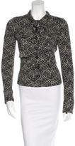 Diane von Furstenberg Tie- Accented Printed Blazer