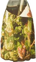 Simone Rocha Appliquéd printed stretch cotton-twill skirt