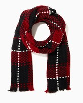 Charming charlie Plaid Outlined Blanket Wrap