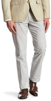 Bonobos Foundation Grey Striped Regular Fit Double-Pleated Trouser