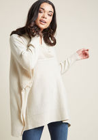 ModCloth Better Latte Than Never Sweater in Sand in S - Long 3rd Piece Tunic