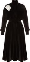 Awake Victoria velvet long-sleeved dress