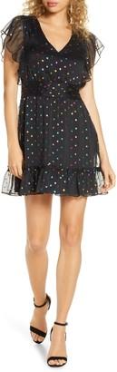 Ali & Jay Night Fever Metallic Clip Dot Minidress