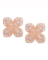 Jamie Wolf 18K Rose Gold Scallop Diamond Flower Earrings
