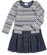 Iris & Ivy Girls 2-6x Fair Isle Sweater Dress