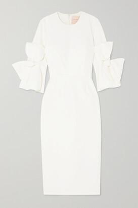 Roksanda Lavete Bow-embellished Crepe Midi Dress - Ivory