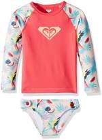 Roxy Toddler Girls' Vintage Tropical Long Sleeve Rashguard Set