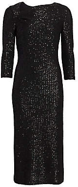 St. John Women's Sequin Knit Sheath Dress