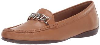Driver Club Usa Driver Club USA Women's Genuine Leather Chain Detail Driving Loafer