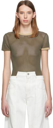Helmut Lang Green Cotton Mesh Baby T-Shirt