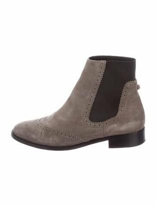 Balenciaga Suede Chelsea Boots Grey