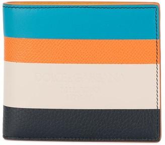 Dolce & Gabbana Striped Bifold Wallet