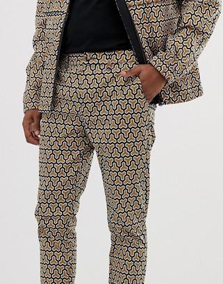 ASOS DESIGN skinny cropped pants co ord in geo print