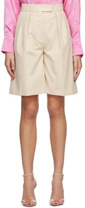 MSGM Beige Bermuda Shorts