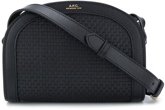 A.P.C. Woven-Effect Crossboby Bag