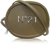 N°21 Military Green Leather Oval Crossbody Bag w/Metallic Embossed Logo