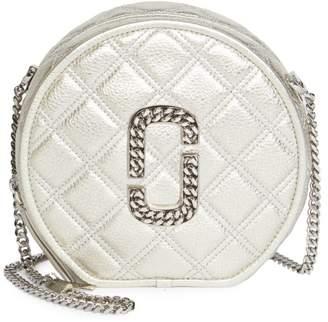 Marc Jacobs Naomi Metallic Leather Circle Crossbody Bag
