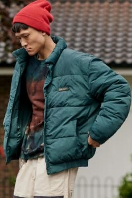 Urban Outfitters Iets Frans... iets frans... Bruno Green Nylon Puffer Jacket - green S at