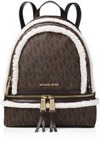 MICHAEL Michael Kors Rhea Medium Signature Logo Zip Backpack