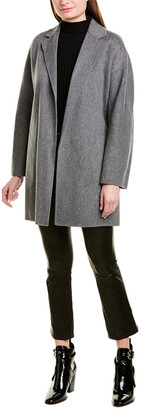 Vince Belted Wool-Blend Cardigan Coat