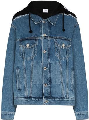 Vetements Oversized Hooded Denim Jacket