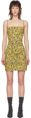 Miaou Yellow and Brown Zebra Dress