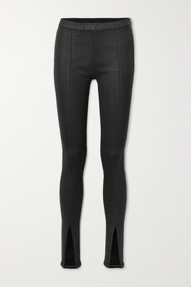 Rick Owens Coated-denim Leggings - Black