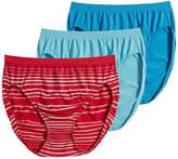 Jockey Comfies 3 Pair Microfiber High Cut Panty