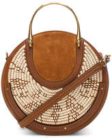 Chloé Medium Pixie Raffia with Calfskin & Suede Double Handle Bag