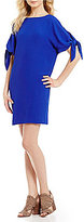 Vince Camuto Bateau Neck Tie Sleeve Shift Dress