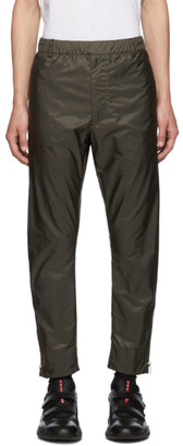 Prada Khaki Nylon Side Zip Trousers