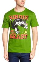 Logoshirt Men's Looney Tunes - Birdie and the Beast Crew Neck Short Sleeve T-Shirt