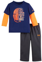 Under Armour Baby Boys Layered Logo Shirt and Pants Set