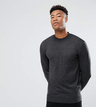 French Connection TALL Cotton Turtle Jumper-Grey