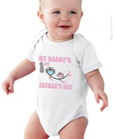 NanyCrafts Baby's My Daddy's First Father's day Owls Girl bodysuit