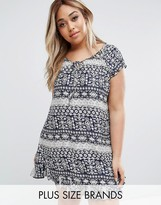 Koko Plus Tunic Dress With Frill Hem