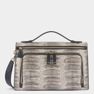 Anya Hindmarch Snake-Print Soft Postbox Bag