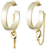 Eddie Borgo Thin Safety Chain Hoop Earrings