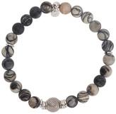 Tateossian Stonehenge Silver Tone Beaded Bracelet