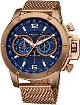 Akribos XXIV Men's AK515RG Conqueror Mesh Bracelet Multi-Function Watch