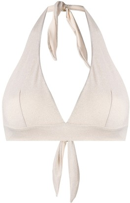 MC2 Saint Barth Lurex Halterneck Bikini Top